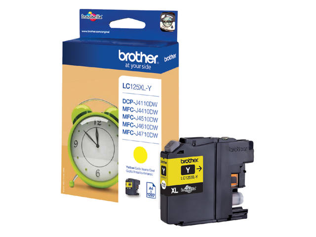 INKCARTRIDGE BROTHER LC-125XL GEEL 1