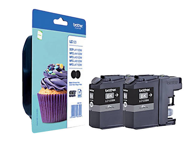 INKCARTRIDGE BROTHER LC-123 2X ZWART 1